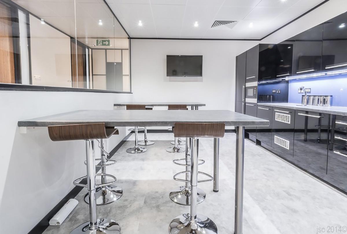 Birchin Court redesigned office kitchen