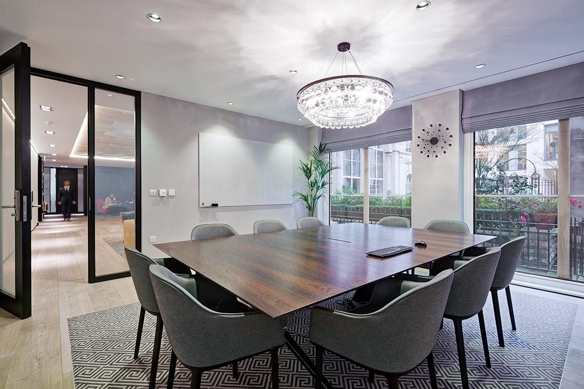 Birchin Court office redesign meeting room