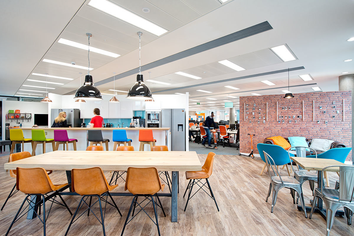 Currency Cloud redesigned office canteen & kitchen