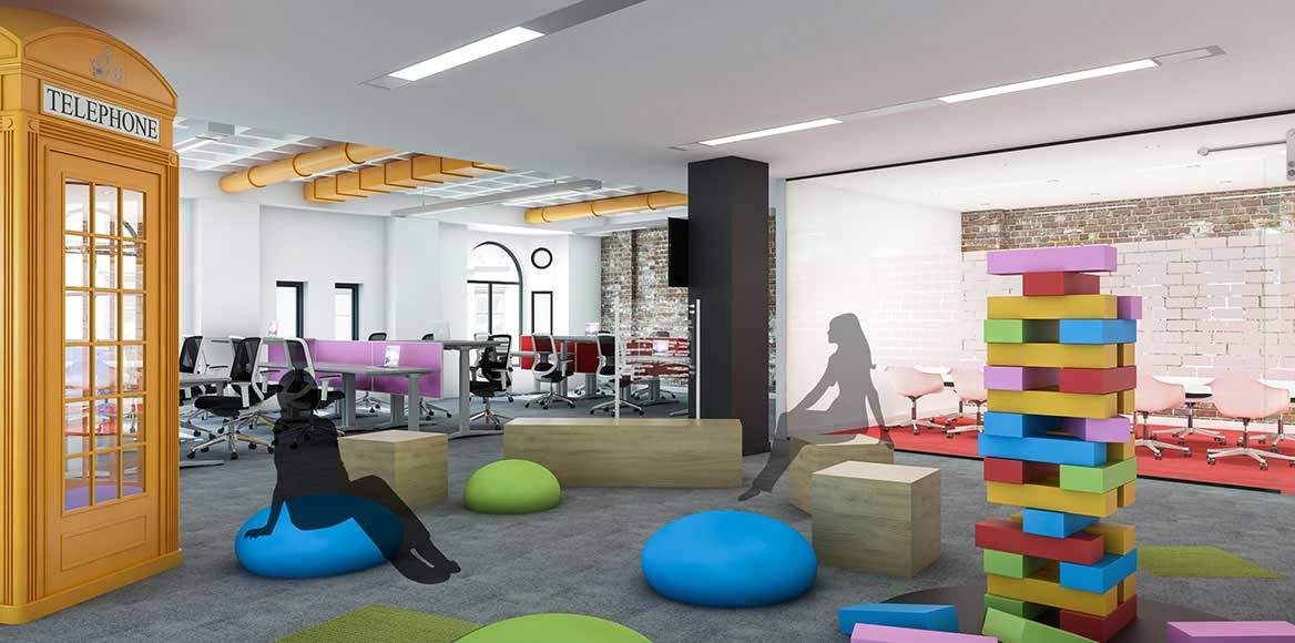 King office staff games area concept design by CCWS London